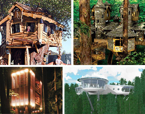 Amazing tree houses plans pictures designs building for Amazing building designs