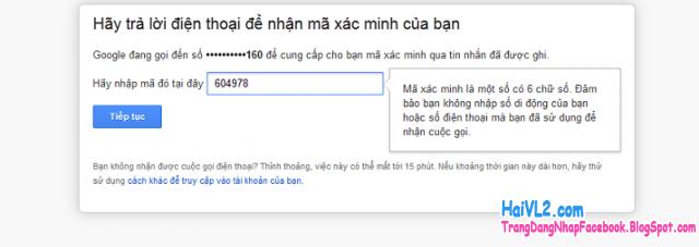 lấy lại mật khẩu gmail