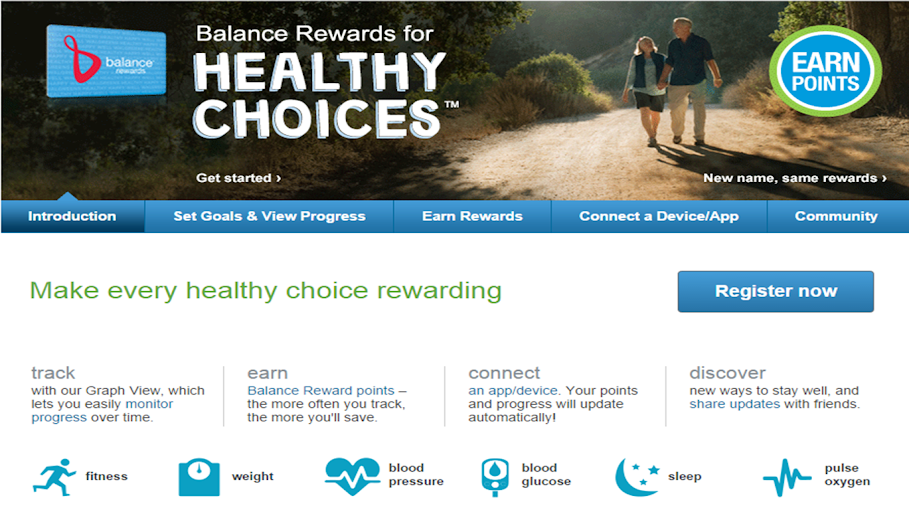Create Health Goals with the Balance Rewards for healthy choices Program from Walgreens