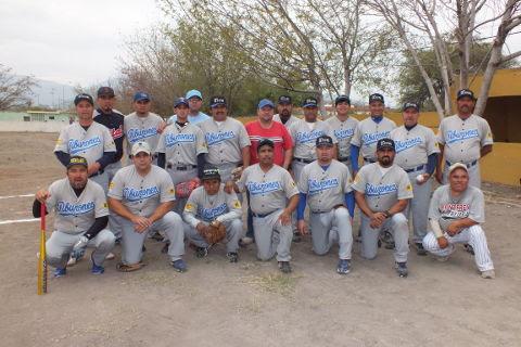 Equipo Tiburones de Sabinas Hidalgo de la Liga de Beisbol de Salinas Victoria