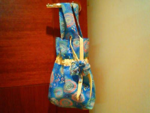 子どものかわいい手作り浴衣用バッグ