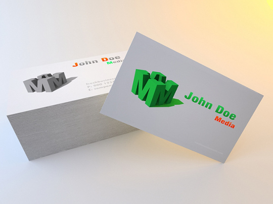 business card media 16+ Highly Professional Free Business Card Design Templates