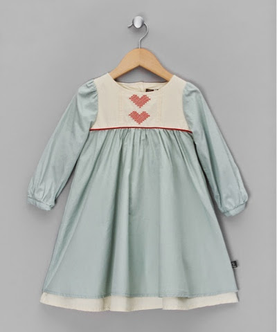 Little Ducklings Duck Egg Blue Heart Dress £19.99