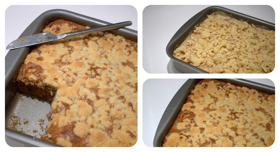 Opskrift på Æblekage med crumble