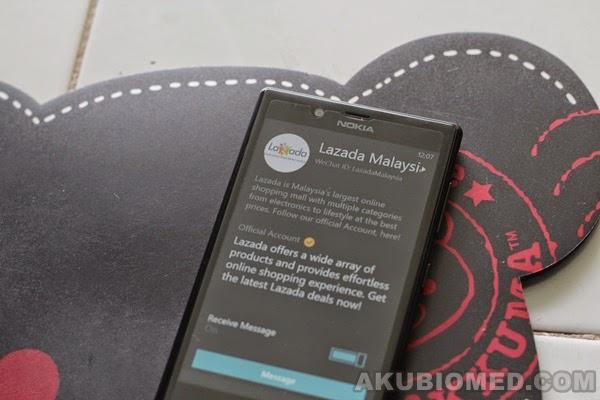 daftar akaun Lazada di WeChat