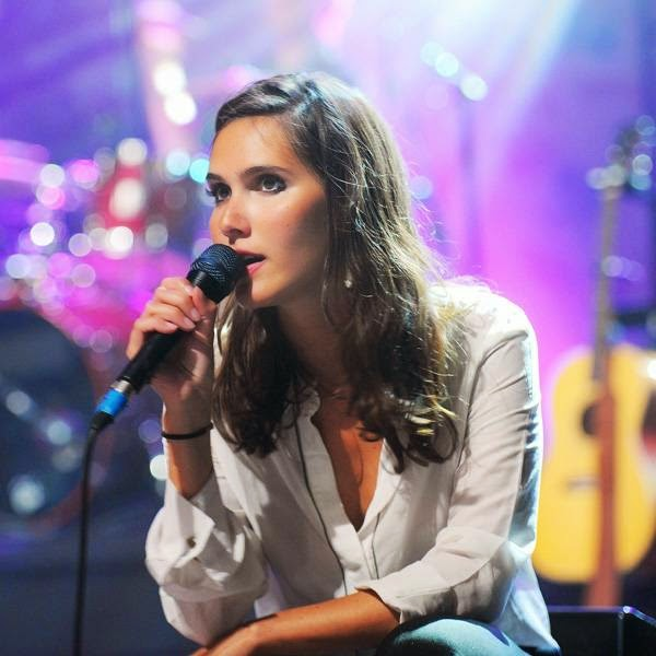 French singer Joyce Jonathan performs on stage during the Francofolies music Festival in La Rochelle on July 14, 2014.