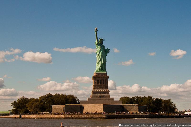 USA New York Manhattan Liberty Statue США Нью Йорк Статуя Свободы