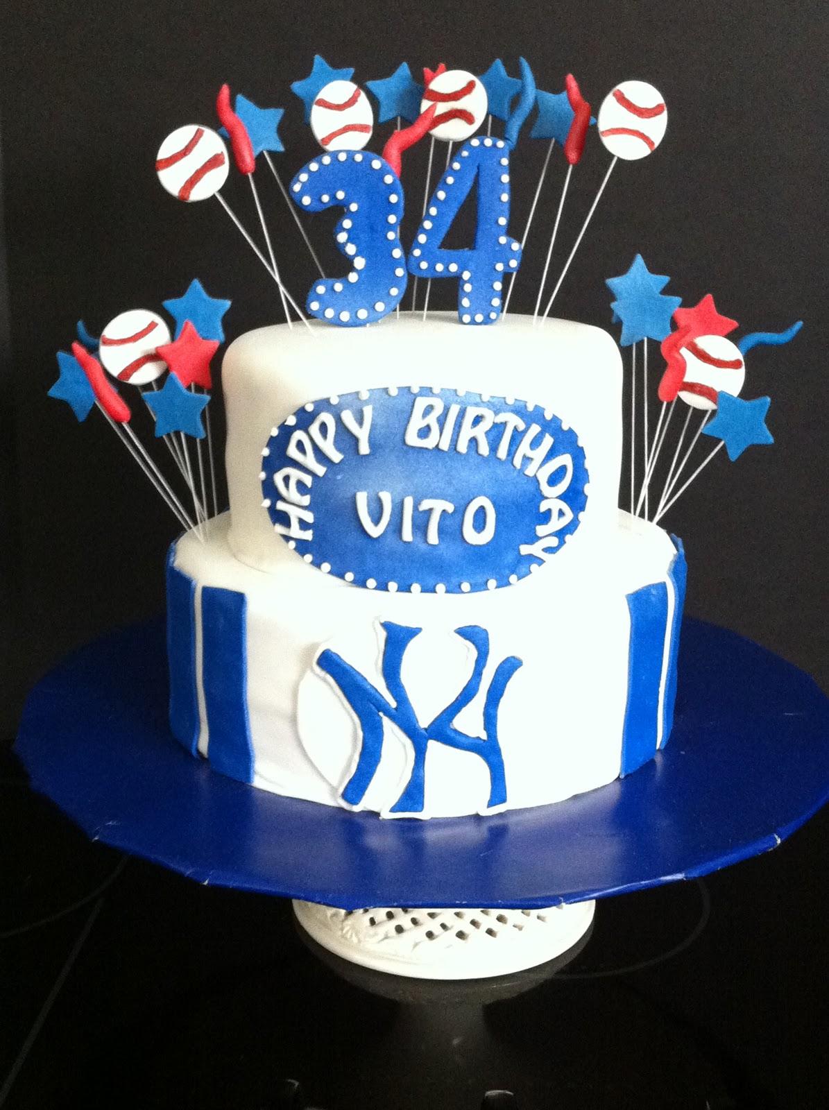 Incredible New York Yankees Cake My Sweet Zepol Funny Birthday Cards Online Benoljebrpdamsfinfo