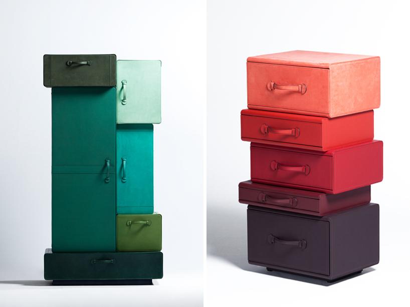*皮革手提行李箱組合櫃:設計師Maarten de ceulaer探索世界旅行熱情! 9