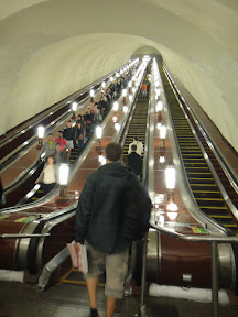 Escalators At The Metro Station