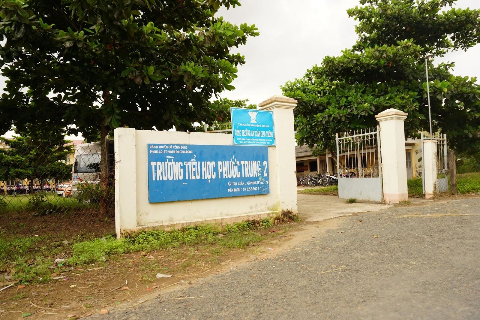 Ngôi trường tiểu học nhỏ Phước Trung 2, thuộc xã Phước Trung, huyện Gò Công Đông