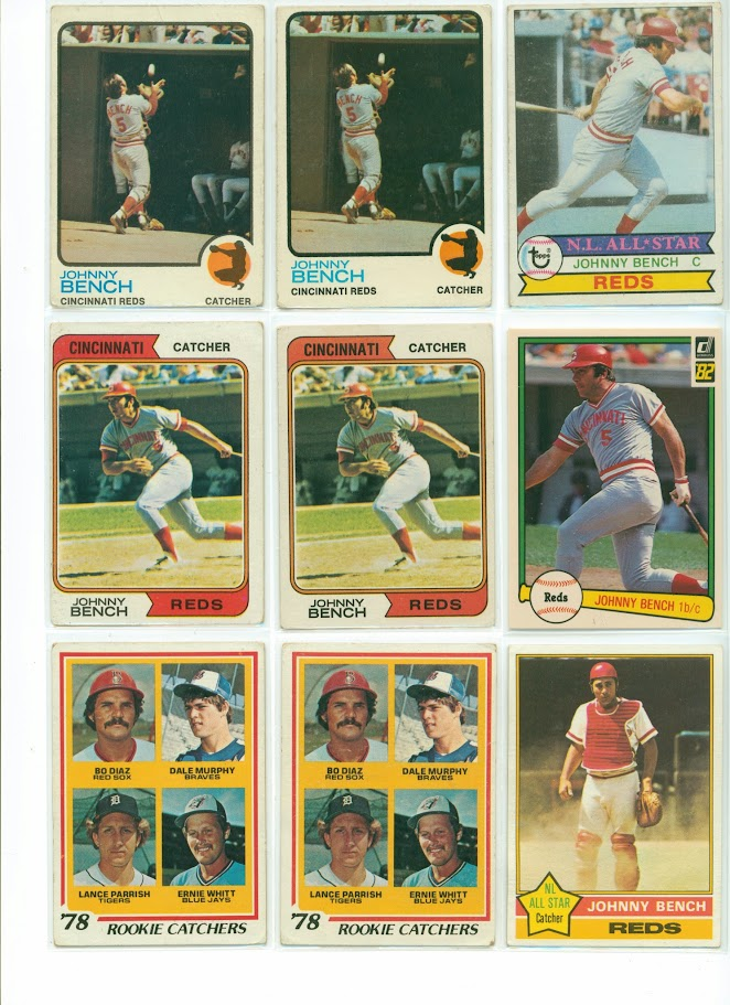 LOT Vintage baseball cards from 40's to 80's Hank Aaron, Mays