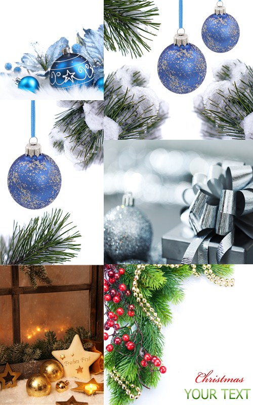 Stock Photo: Xmas baubles