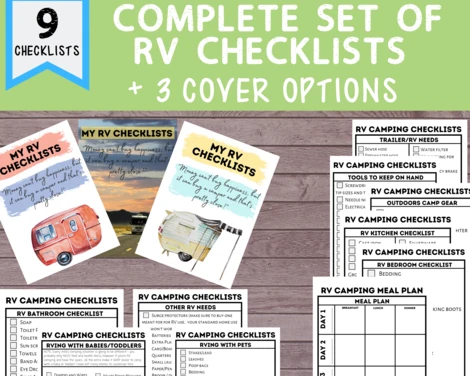 rv checklists good for new campers