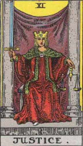 Tarot Card Meaning For Justice Rws And Adjustment Thoth