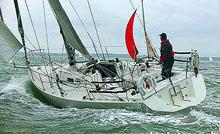 J/105 sailing Round the Island Race