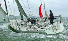 J/105 sailing Round Island Race