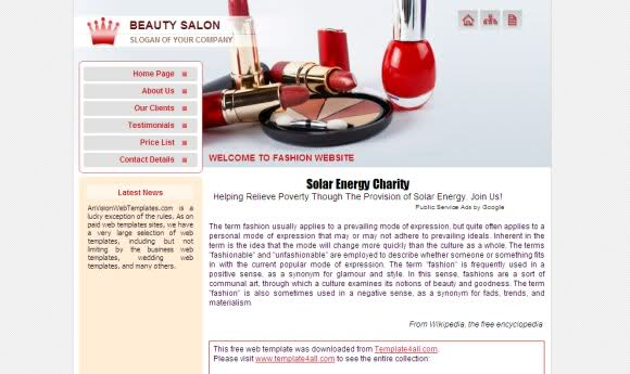 Makeup Beauty Salon CSS Template