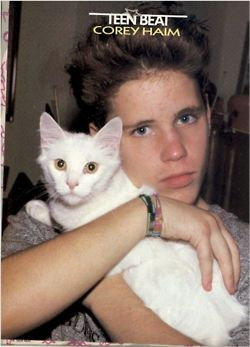 Corey Haim and a cat
