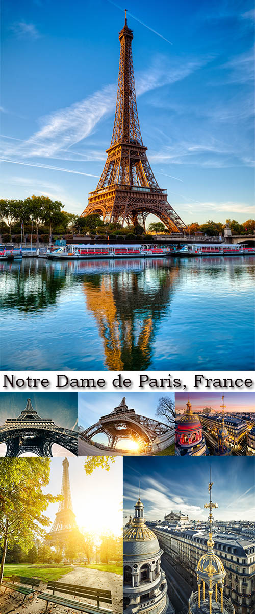 Stock Photo: Notre Dame de Paris, France
