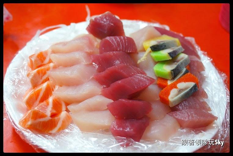 墾丁美食推薦-後壁湖 生魚片份量大又便宜【輝哥生魚片】