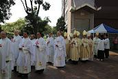 彌撒中主祭及共的神長們