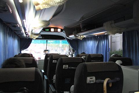 富士観光バス「ロイヤルエクスプレス」東京便 福岡出発時の車内