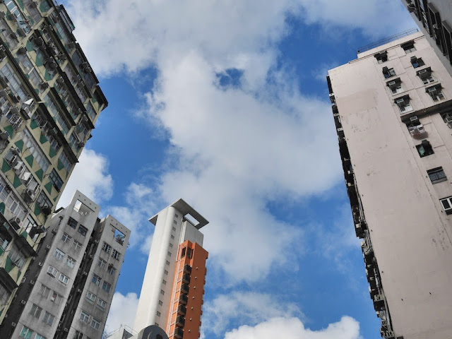 clouds in a blue sky in Hong Kong