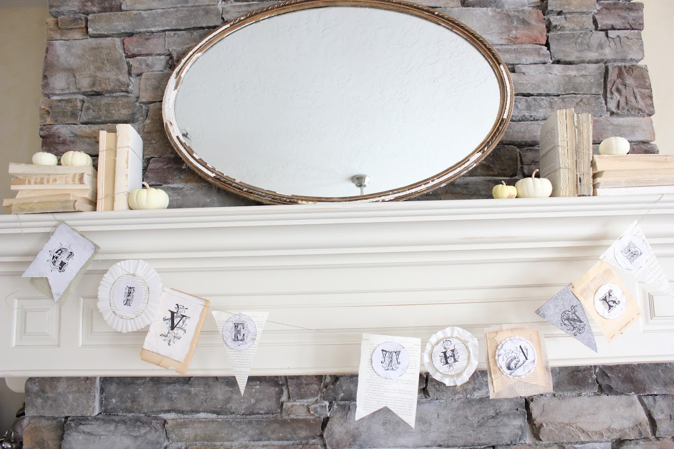 a bookpage fall mantel, and the Maison de Michele giveaway winner