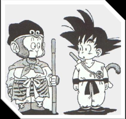 Caixa de texto:  Fig 2.2 Ilustração de Akira Toriyamacomparando Goku e o mito de Sun Wukong.