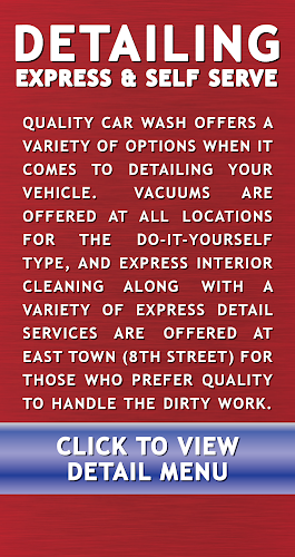 Click for Car Wash Detailing Menu