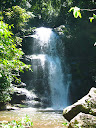 And the bigger waterfall that we were hiking too! Very nice and surrounded by lush forest!