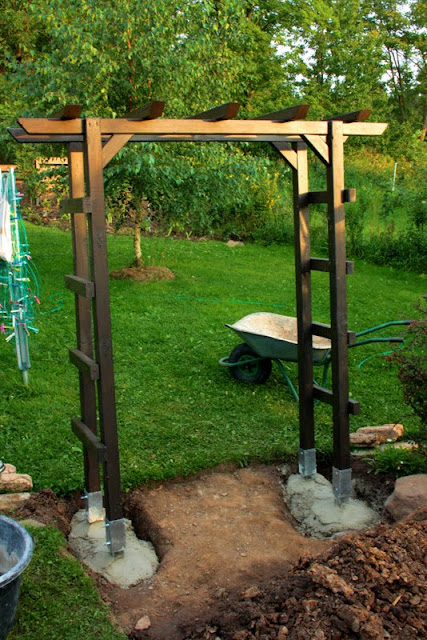 Außergewöhnlich Rosenbogen selber bauen - Garten- & Terassengestaltung @FK_94