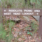 Resolute West Head sign (28544)