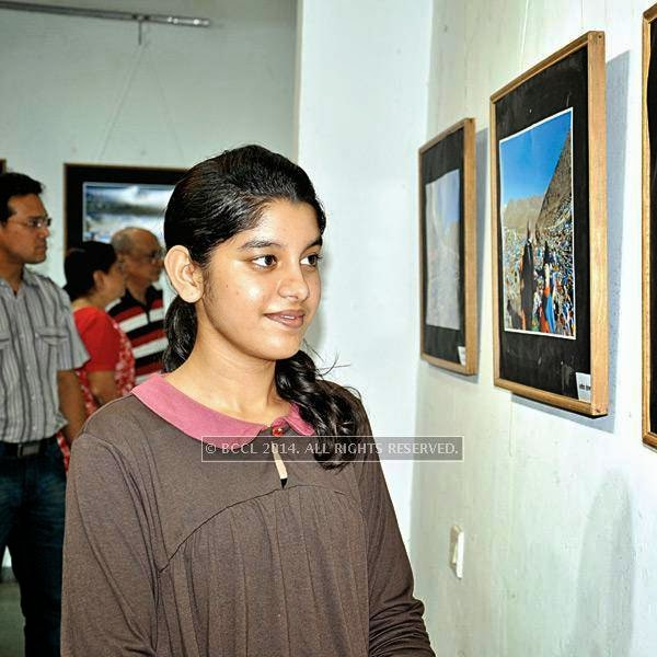 Avani at Ravindra Puntambekar's photography exhibition in Indore.