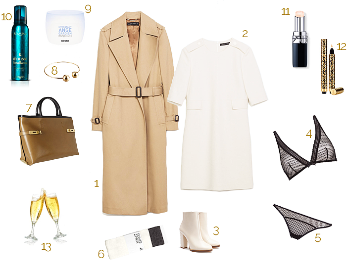 romantic weekend, what to wear, elegant and chic look, camel and ivory, outfit for a date night