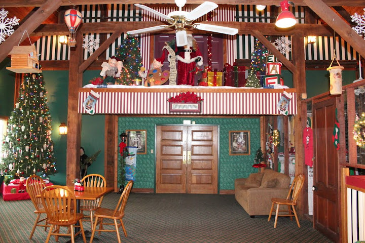 Interior of Santa's Lodge