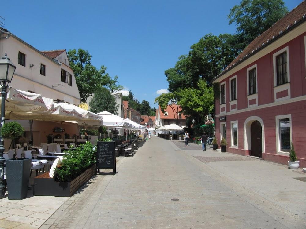 Pedestrian avenue in Zagreb