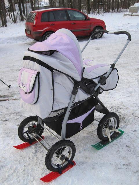 Лыжи на коляске