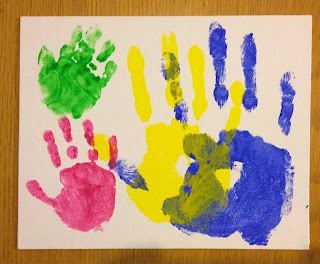 annual family handprints canvas