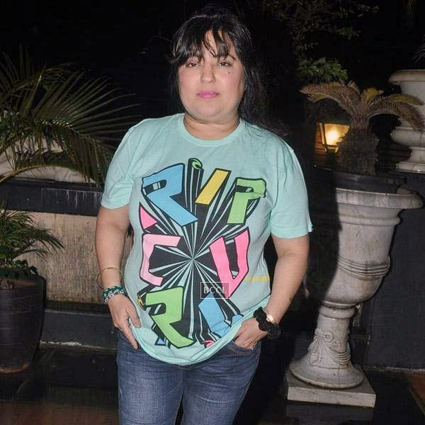 Dolly Bindra during Sangram Singh's birthday party, held at Churchgate, on July 20, 2014.(Pic: Viral Bhayani)