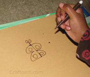 Step by step instructions to draw a easy butterfly