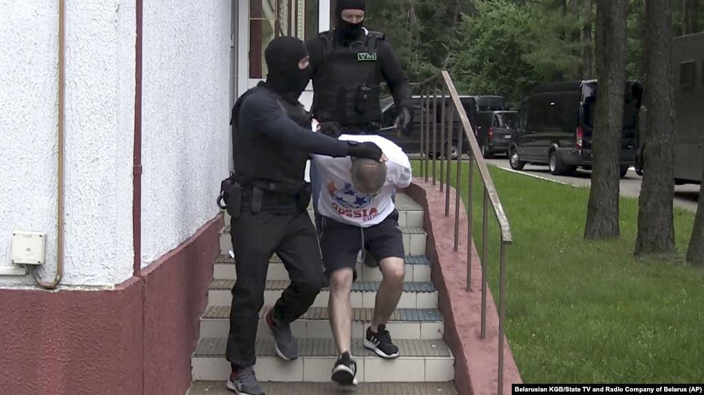 """Задержание бойцов """"ЧВК Вагнера"""" в Минске, 29 июля"""