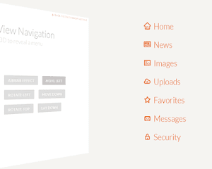 Perspective Page View Navigation - Hiệu ứng chuyển trang