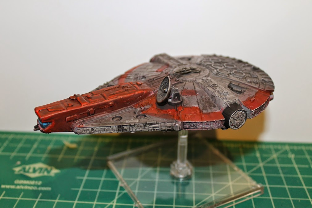 Finished YT-1300, side 3/4 view