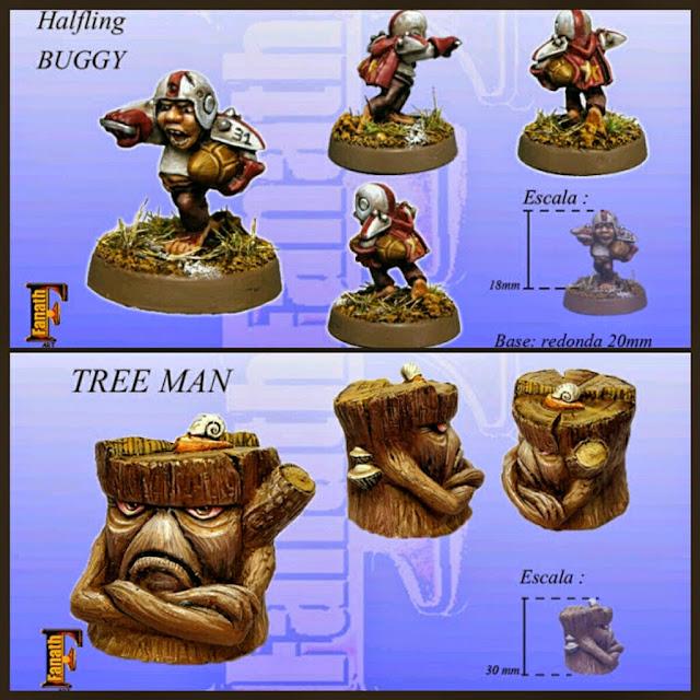 halfling y hombre árbol Fanath art Blood bowl