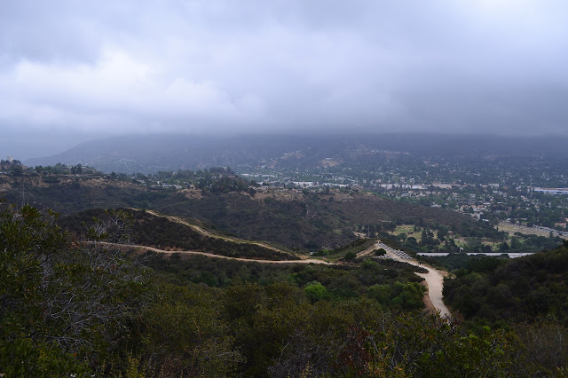 looking down over Sunland, a section of Los Angeles