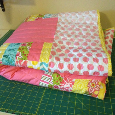 Easiest Quilt Binding Method Ever binding with clear thread