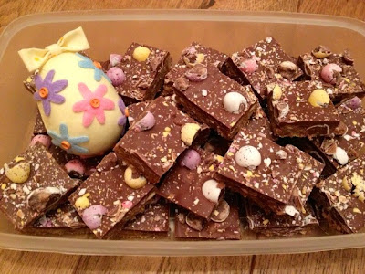 Malt-Easter Tray Bake, Easter Egg Chocolate Tray Bake