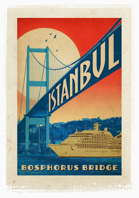 the bosphorus retro poster